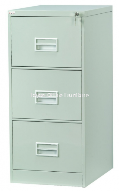 3 Drawer Filing Cabinet With Recess Handle C/W Ball Bearing Slide S106/BB
