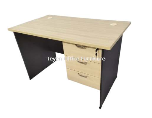 Writing Table With 3D Hanging Fixed Pedestal