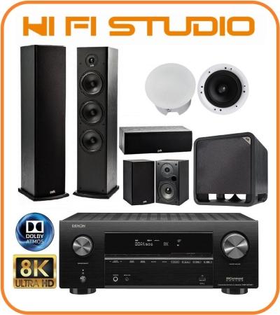 Denon AVR-X2700H+Polk Audio T Series+Polk Audio HTS10+Polestar CS6C 5.1.2 Home Theatre Package