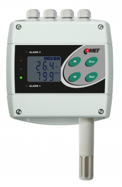 COMET H6420 Temperature, humidity, CO2 transmitter with two relay and RS485 outputs