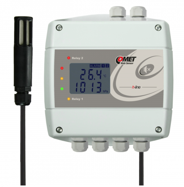 COMET H7531 Thermometer hygrometer barometer with Ethernet interface and relays