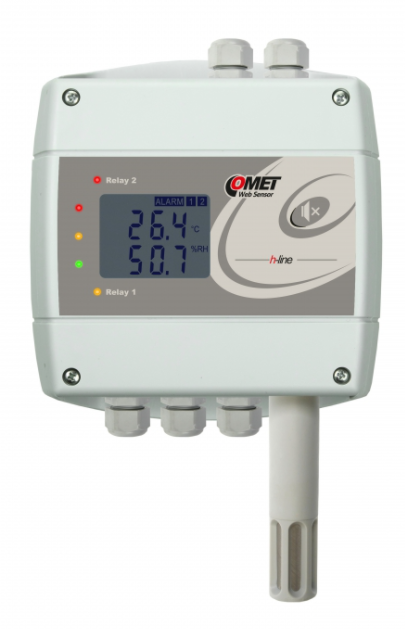 COMET H3530 Thermometer hygrometer with Ethernet interface and relays, humidistat