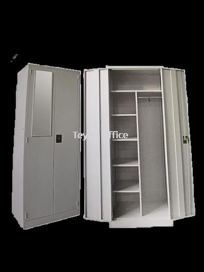 Full Height Wardrobe with Steel Swinging Door SCM-0001