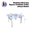 Stainless Steel 100cm Square Foldable Table Table Kitchen Equipment