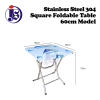 Stainless Steel 60cm Square Foldable Table Table Kitchen Equipment