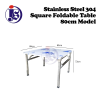 Stainless Steel 80cm Square Foldable Table Table Kitchen Equipment