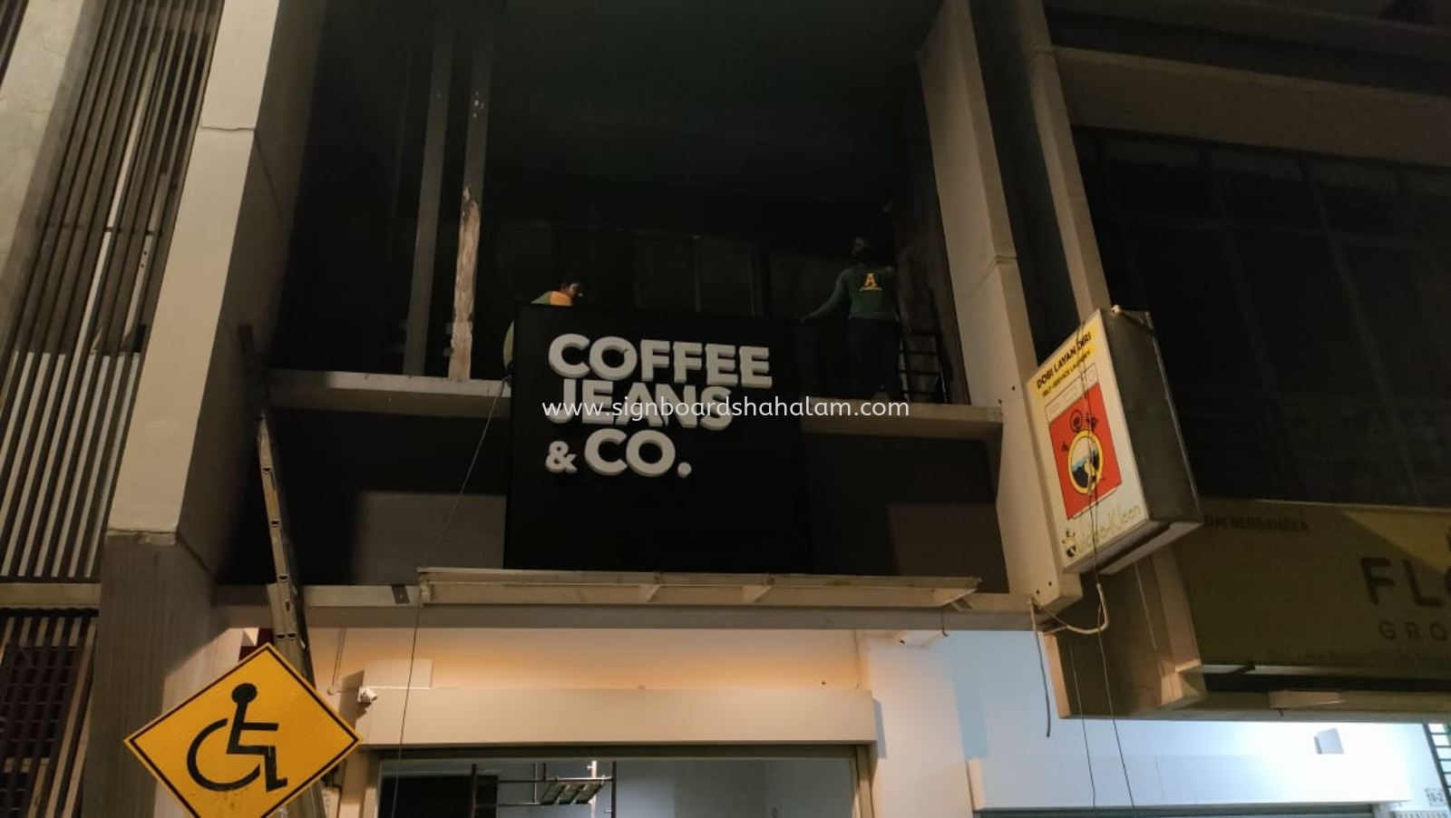Coffee Jeans Shah Alam - 3D LED Box Up Signboard - Frontlit