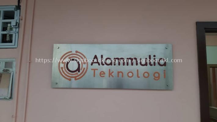 alammulia company stainless steel etching color indoor signage signboard at klang kuala lumpur shah alam puchong kepong damansara
