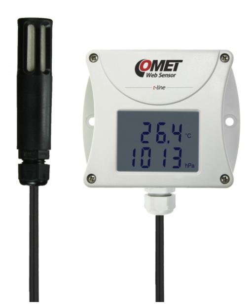 COMET T7511 Web Sensor - remote thermometer hygrometer barometer with Ethernet interface