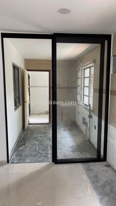 hanging sliding doors (p/c Black + clear glass) @jalan Bk 6a/1,Bandar Kinrara, Puchong