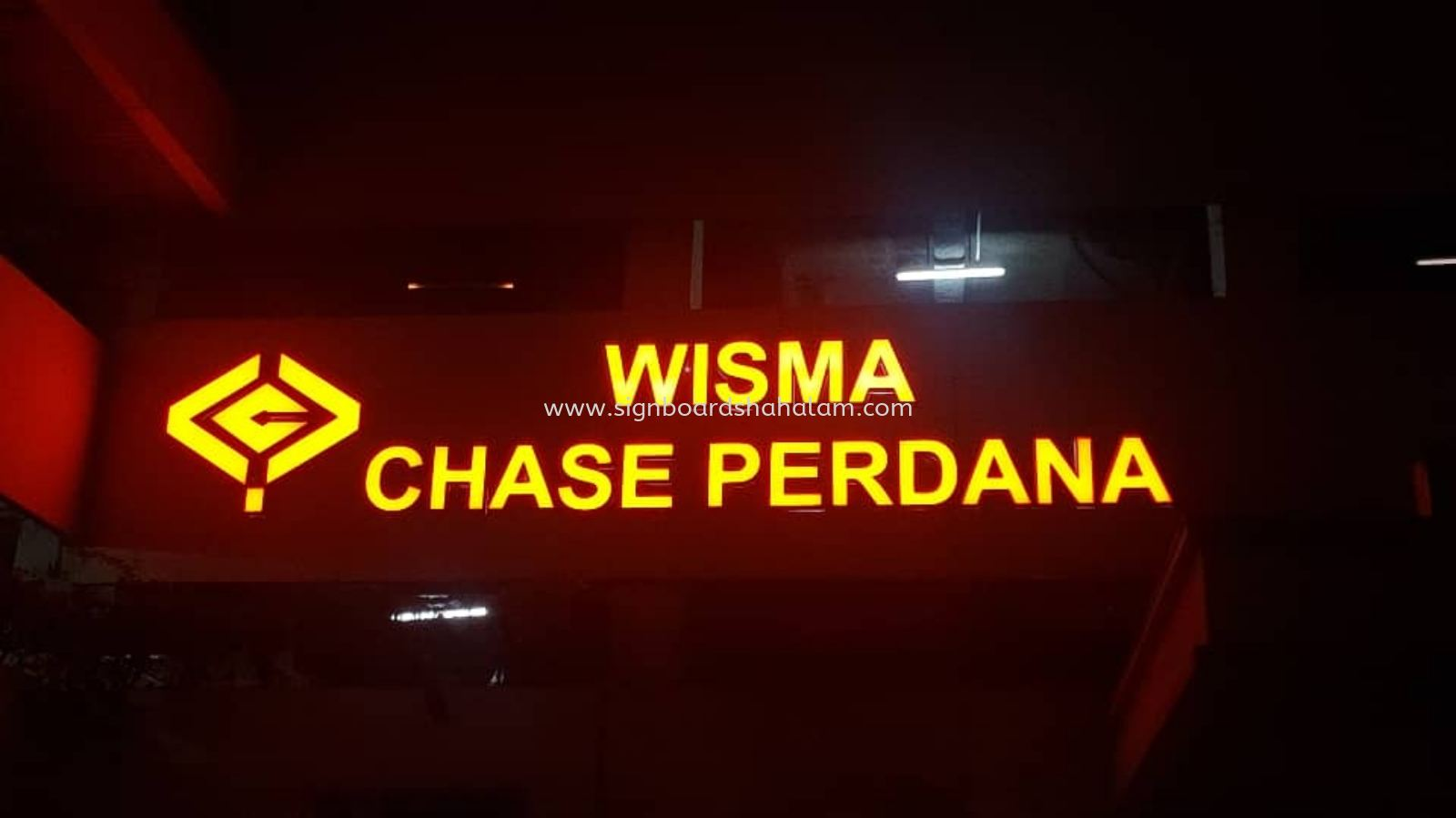 Wisma Chase Perdana KL - 3D LED Conceal Box Up Signboard