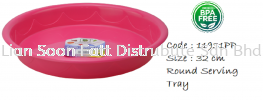 32cm Round Serving Tray Table Utensils Plastic Household Ware