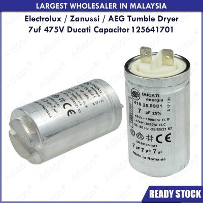 Code: 20607 Electrolux / Zanussi / AEG Tumble Dryer Ducati Capacitor 7uf 475V 125641701