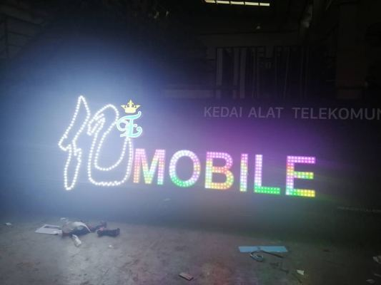 Signboard-3D lettering aluminium box up with digital LED light