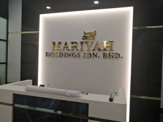 3D Lettering gold stainless steel box up