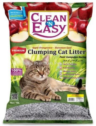 Clean 'N Easy Coarse Clumping Cat Litter 10L (Apple)