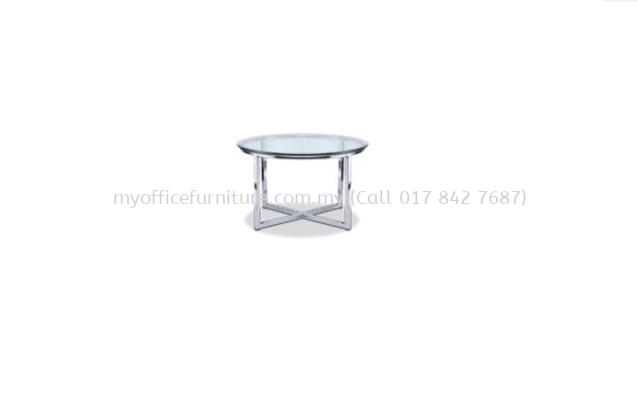 MY-CC75 ROUND COFFEE TABLE WITH METAL CHROME LEG (RM 820.00/UNIT)