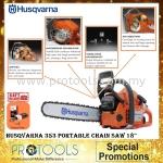 Husqvarna 353 Portable Chain Saw 18
