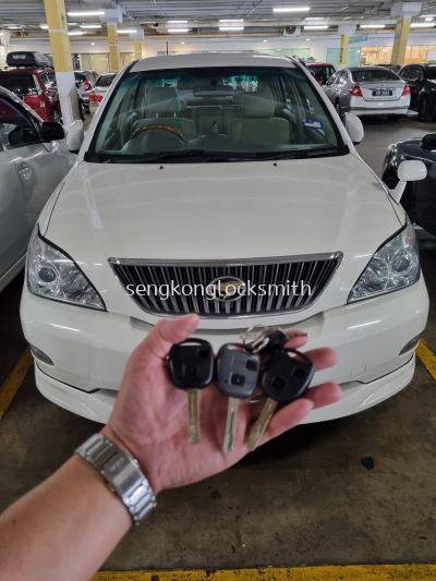 Toyota Harrier car remote control with chip