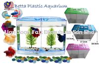 Betta Plastic Aquarium Ikan bekas 17.2cmx13.5cmx18.5cm - BETTA