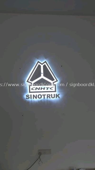 sinotruk eg box up 3d backlit logo lettering indoor signage signboard at ampang kepong damansara subang