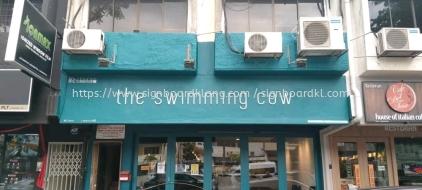 the swimming cow restaurant cafe pvc cut out 3d lettering signsge signboard at klang kuala lumpur shah alam keping damansara