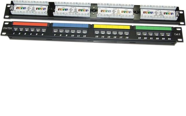 DINTEK 24port patch panel UTP CAT6