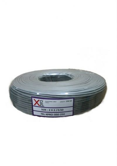 XPRO TELEPHONE CABLE 2PAIR 0.50mm CCA