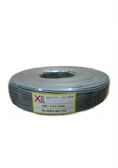 XPRO TELEPHONE CABLE 2PAIR 0.63mm CCA