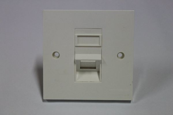 RJ45 Face Plate Cat 6 ALL-LINK Single Port 45degree