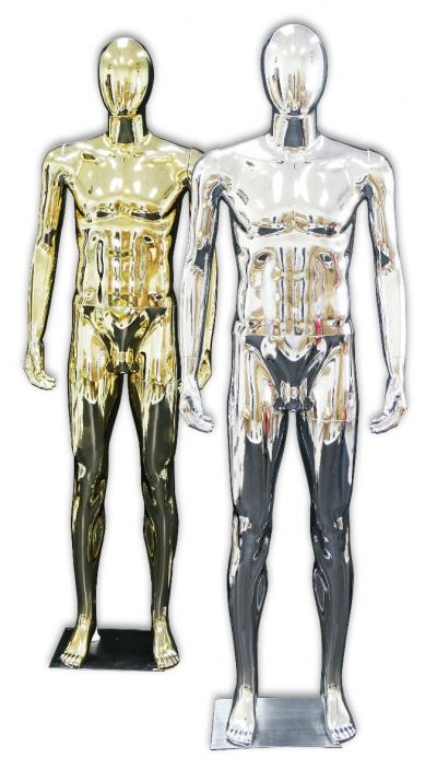37751-M03-GOLD & SILVER MALE MANNEQUIN