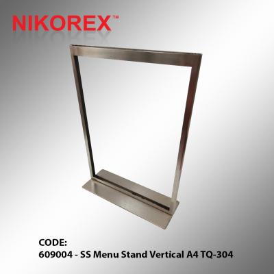 609004 - SS Menu Stand Vertical A4 TQ-304