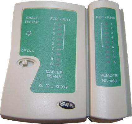 RJ45 / RJ11 Cable Tester NS-468C