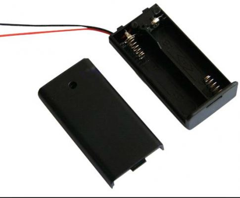 Battery Holder (AA) with Cover