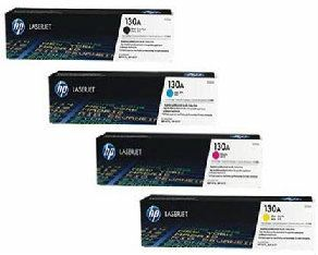 HP 130A CMYK ORIGINAL SET LASERJET TONER CARTRIDGE (CF350A, CF351A, CF352A, CF353A)