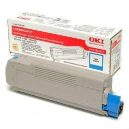 OKI ORIGINAL CYAN TONER CARTRIDGE (43324427) - COMPATIBLE TO OKI PRINTER C5550
