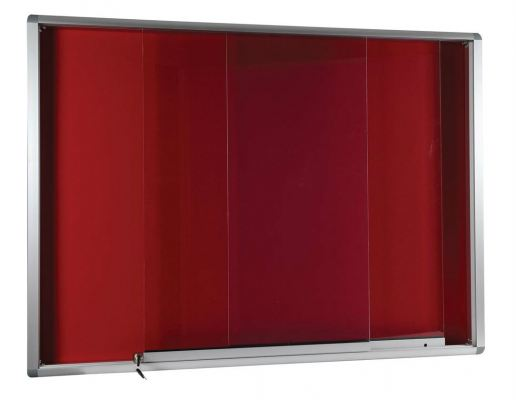 Sliding Glass Velvet Notice Board