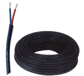 Twin Flat Cable with PVC Jacket (Black)