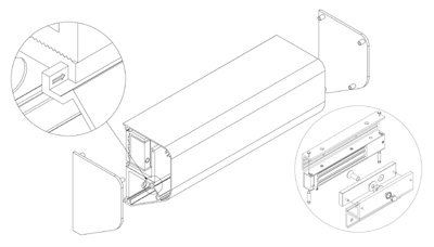 EBELCO Door Bracket ( EM600-ZL Cover Bracket )