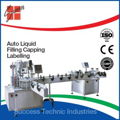 "FP800-10-60 60ml ""DYNA-FILL"" LIQUID FILLING,PLUGGING,CAPPING,LABELLING MACHINE"