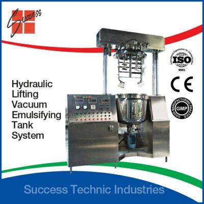 200liter vacuum emulsifier homogenizer with hydraulic lifting