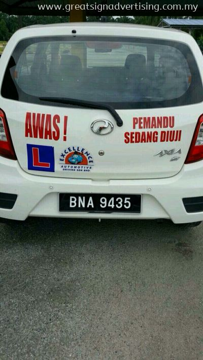 Excellen automotive driving Sdn Bhd Vehicle car stickers at klang