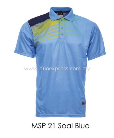 MSP 21 Sea Blue Collar T Shirt