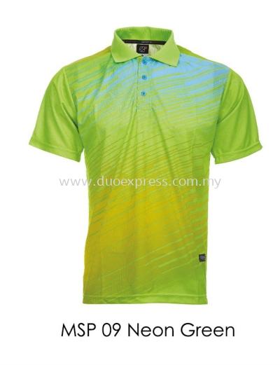 MSP 09 Neon Green Collar T Shirt