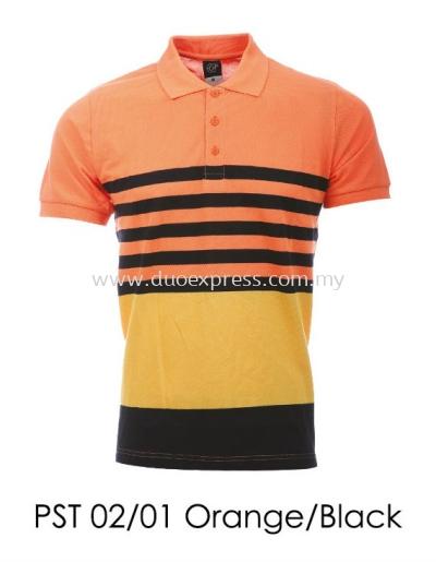 PST 02 01 Orange Black T-Shirt