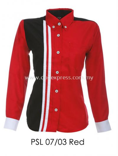 PSL 07 03 Red Ladies Corporate Shirt