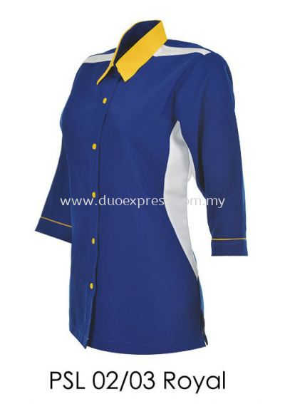 PSL 02 03 Royal Blue Ladies Corporate Shirt