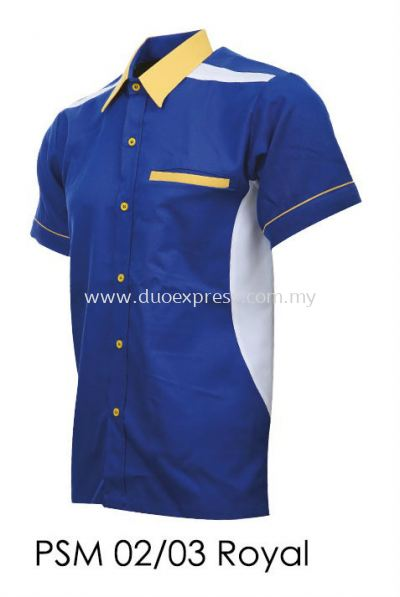 PSM 02 03 Royal Blue Unisex Corporate Shirt