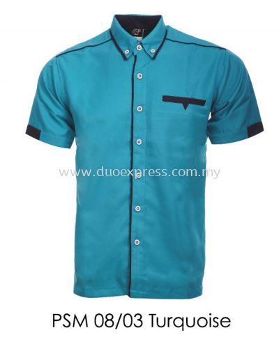 PSM 08 03 Turquoise Unisex Corporate Shirt