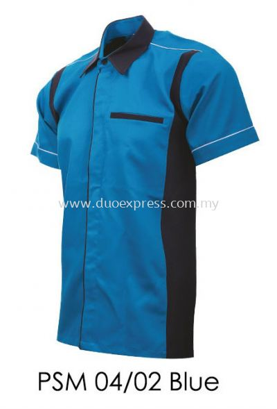 PSM 04 02 Blue Unisex Corporate Shirt